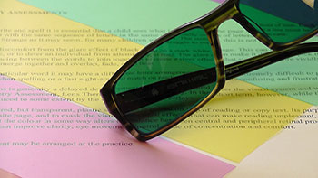 Colorimetry Tinted Lenses For Reading Difficulties