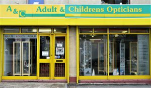 Adult Childrens Opticians shop front