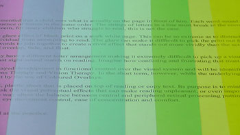 How colour can help reading difficulties